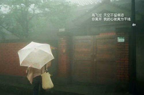 下雨天想念一个人的文案句子